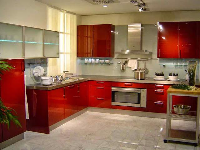warna cat merah untuk dapur