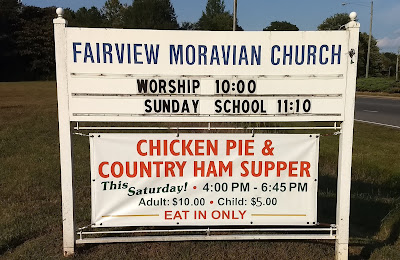 Sign of Fairview Moravian Church