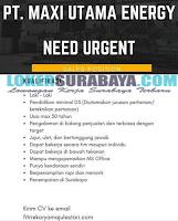 Info Loker Sidoarjo Terbaru di PT. Maxi Utama Energi Juli 2019