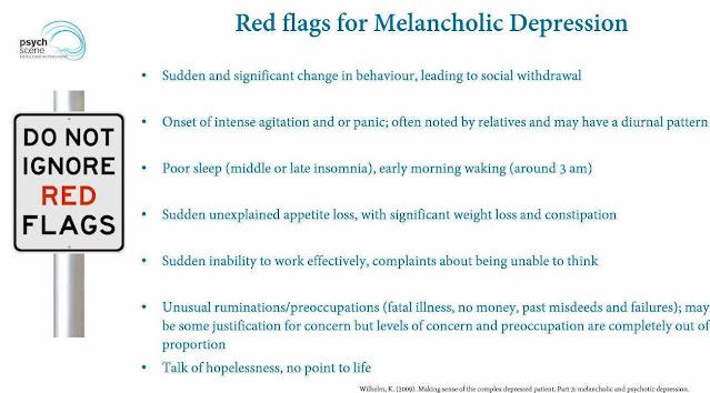 how to treat melancholic depression