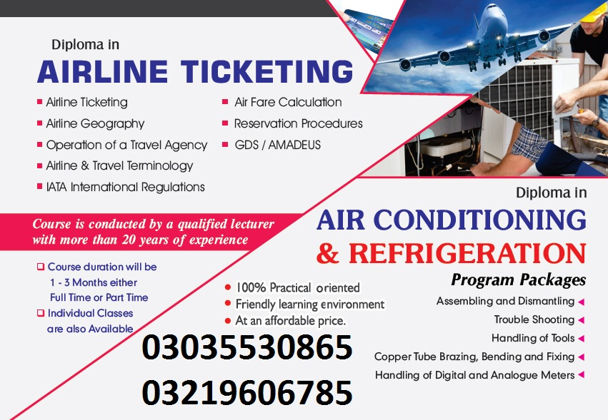 Airlines Reservations, e-Ticketing & PNR Management Training Islamabad
