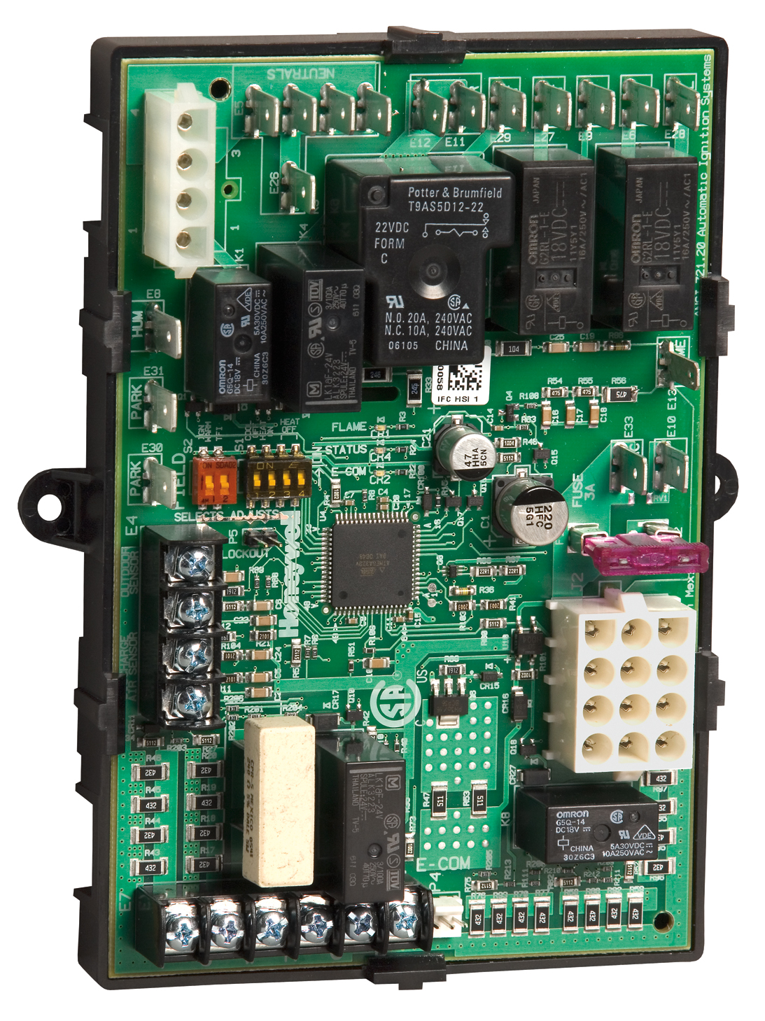 hight resolution of board comes installed inside of a plastic tray for easy installation and protection against