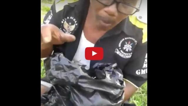 [Video] Ngeri, Pentolan GMBI Pamer Kesaktian Makan Paku Usai Ditantang Jawara Bekasi