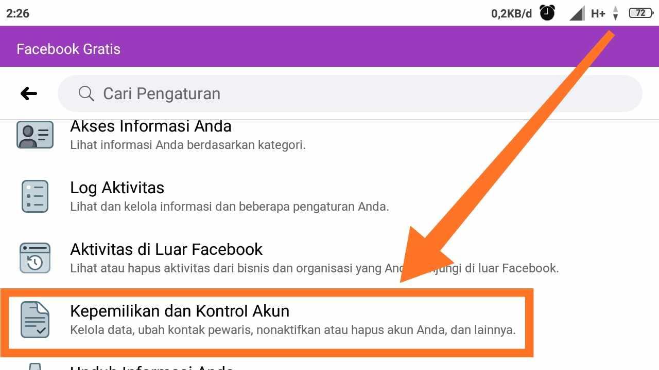 Cara tutup akun FB Lite permanen