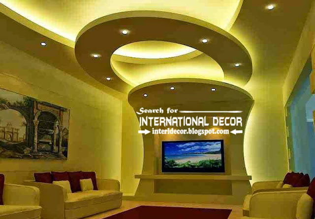 contemporary pop false ceiling designs ideas 2015 lighting for living room