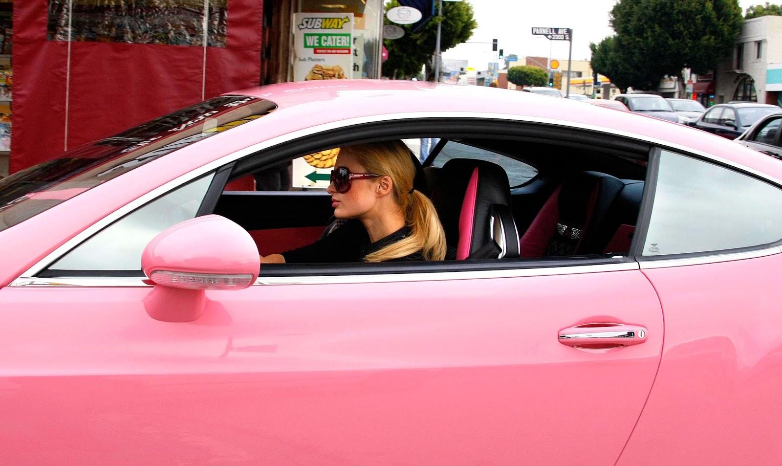 блондинка и ее розовый друг поделал