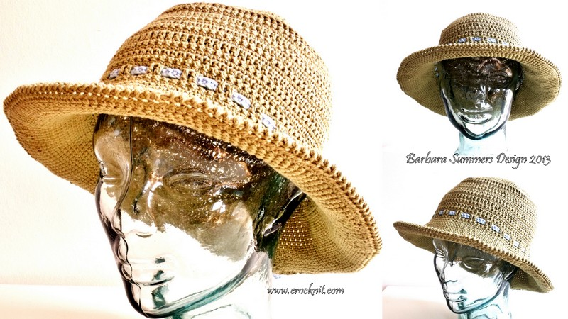00cffb44162 MICROCKNIT CREATIONS  Summer Sun and Cotton Brim Hats