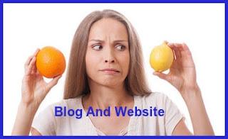 разлики между блог и уебсайт