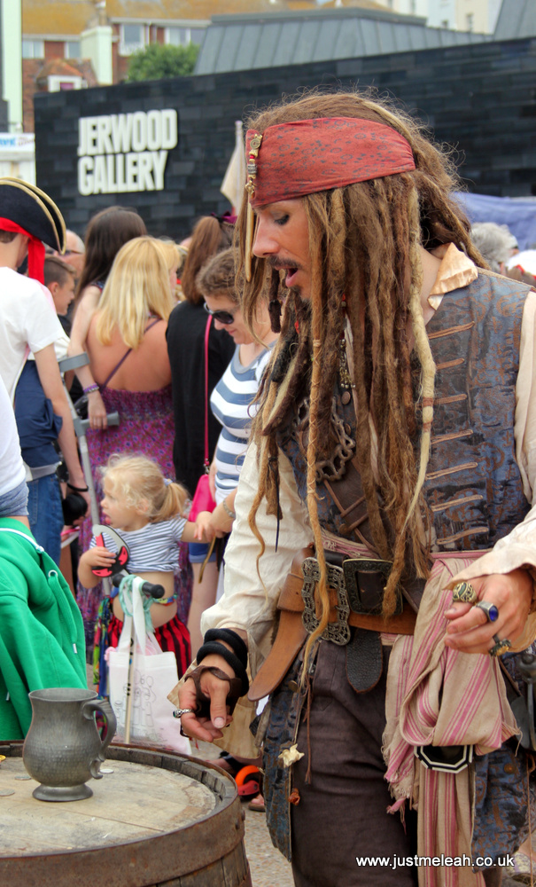 Hastings Pirate Day 2014 Jack Sparrow lookalike