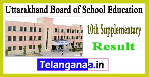 Uttarakhand Board 10th Class Supplementary Result 2018