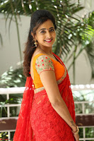 Lasya Cute Beauty in Saree Backless Choli at her Interview ~  Exclusive 075.JPG