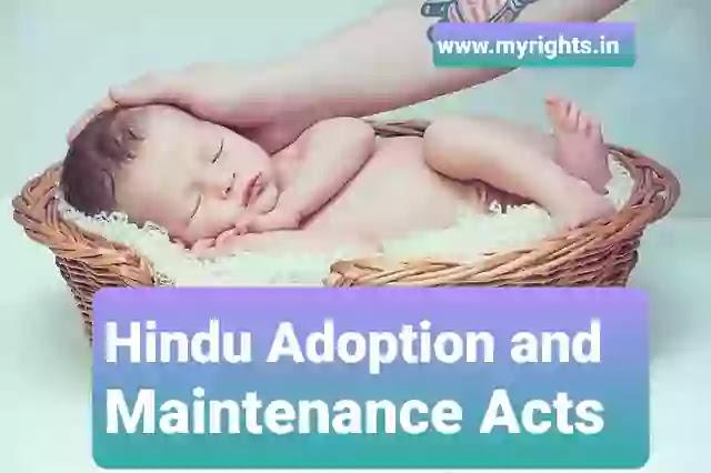 The Hindu Adoptions and Maintenance Act, 1956
