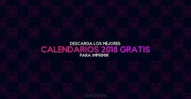 calendarios gratuitos 2018 para imprimir