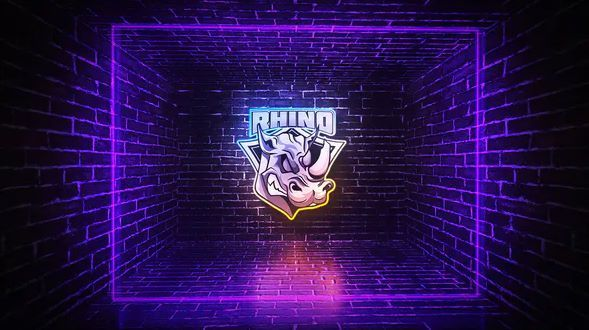 Grunge Neon Logo intro After Effect Template