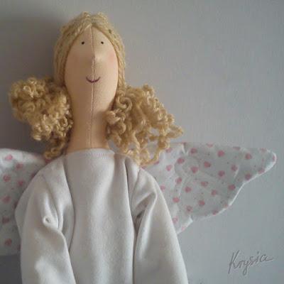 anielica sens Krysia to uszyła tilda anioł - spersonalizowany anioł tilda uszyty na zamówienie