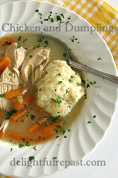 Chicken and Dumplings - A Comfort Food Classic / www.delightfulrepast.com