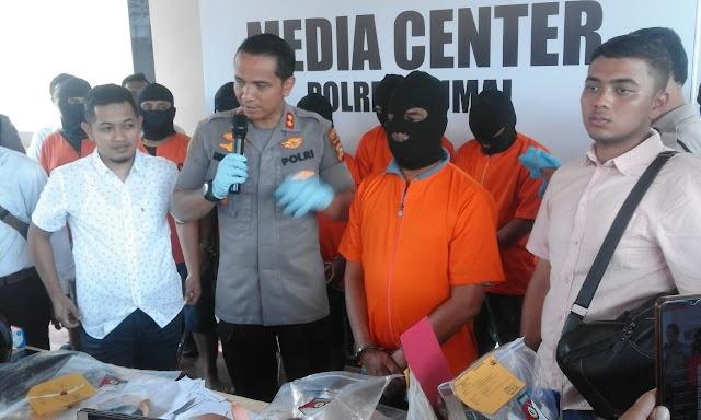 Polres Dumai Berhasil Mengungkap Kasus Mutilasi, Pembakaran Mess PT Diamond, Penembakan, Jambret dan Karhutla
