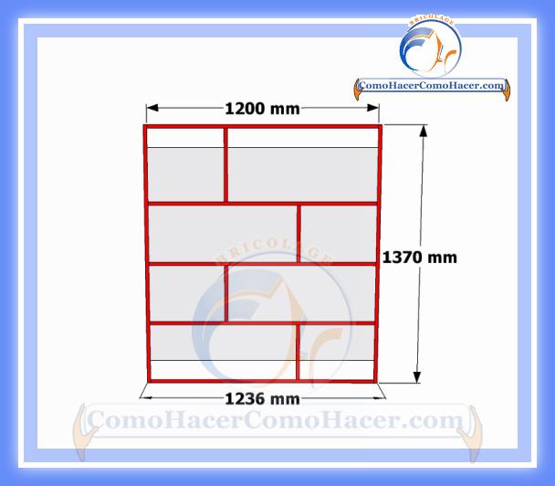 Bricodiy plano mueble de melamina estante librero  Web