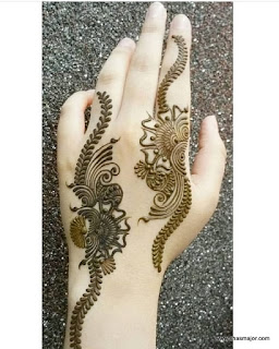 simple mehendi designs step by step