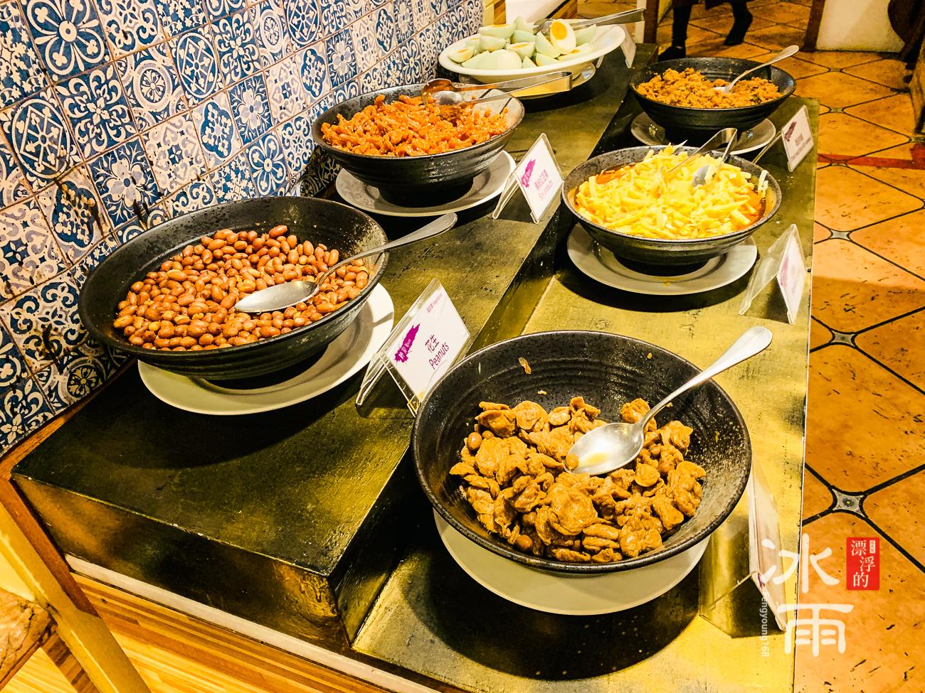 陽明山天籟溫泉會館|早餐菜色|稀飯區