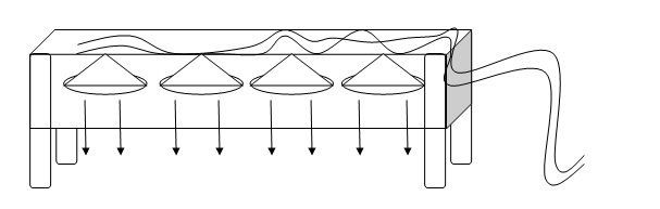 Illustrasi Pembuatan rangkaian Lampu Led Alternatif Murah