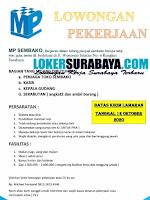 Info Lowongan Kerja Surabaya di MP Sembako Oktober 2020