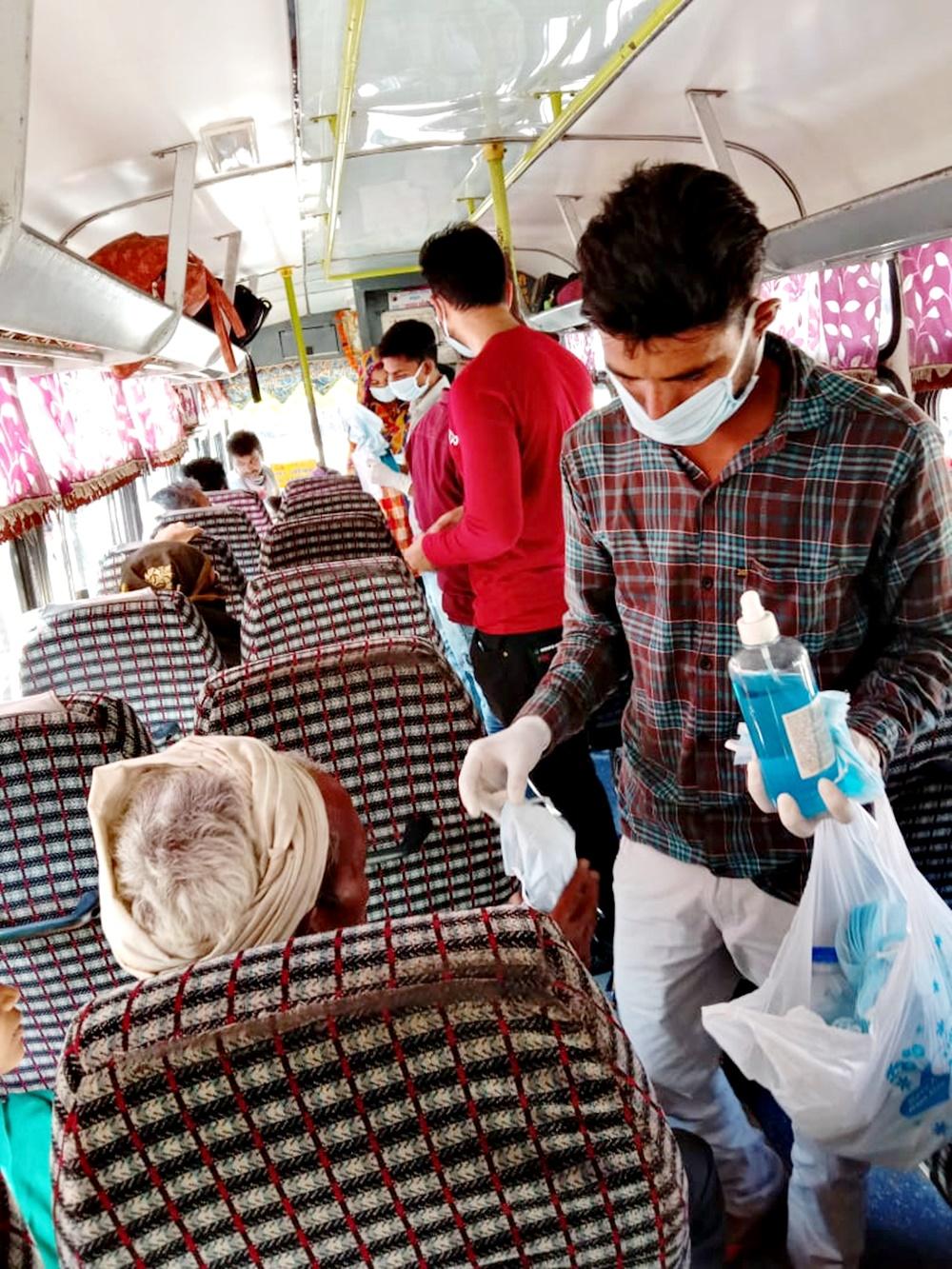 नेहरू युवा केन्द्र द्वारा कोविड-19 के बचाव के लिए रैली आयोजित