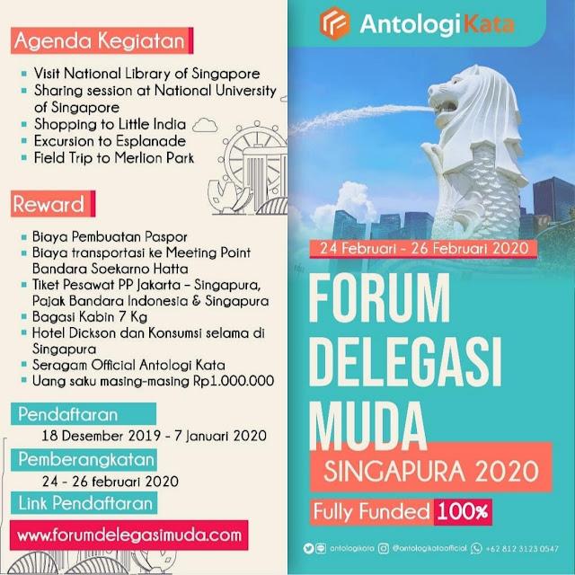 FULLY FUNDED Forum Delegasi Muda Indonesia - Singapura II 24-26 Feb 2020