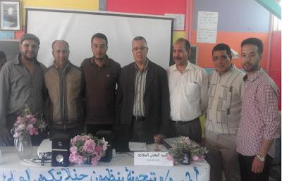 أطر م.م تيحونة تكرم المؤطر التربوي المتقاعد محمد صالح حسينة و المدير المنتقل عبد الرحمان كبيري.