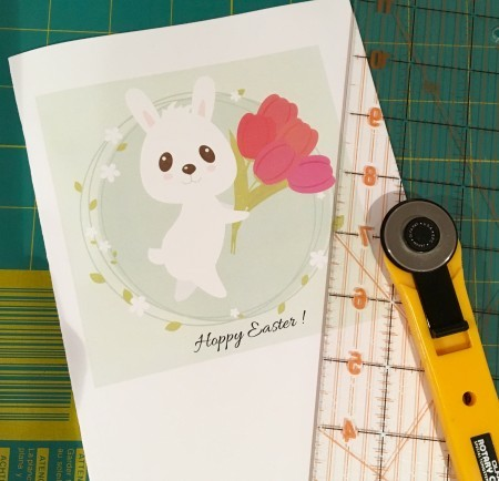 Bunny greeting card directions.