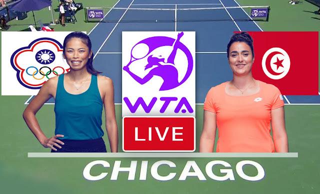 Match Tennis Ons Jabeur vs Hsieh Su-wei Live Streaming Wta Chicago 2021  أنس جابر مباشر اليوم