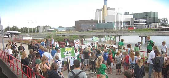 kindermars naar biomassacentrale Diemen