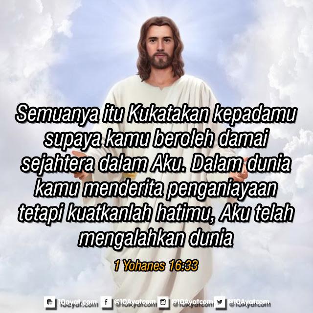 1 Yohanes 16:33