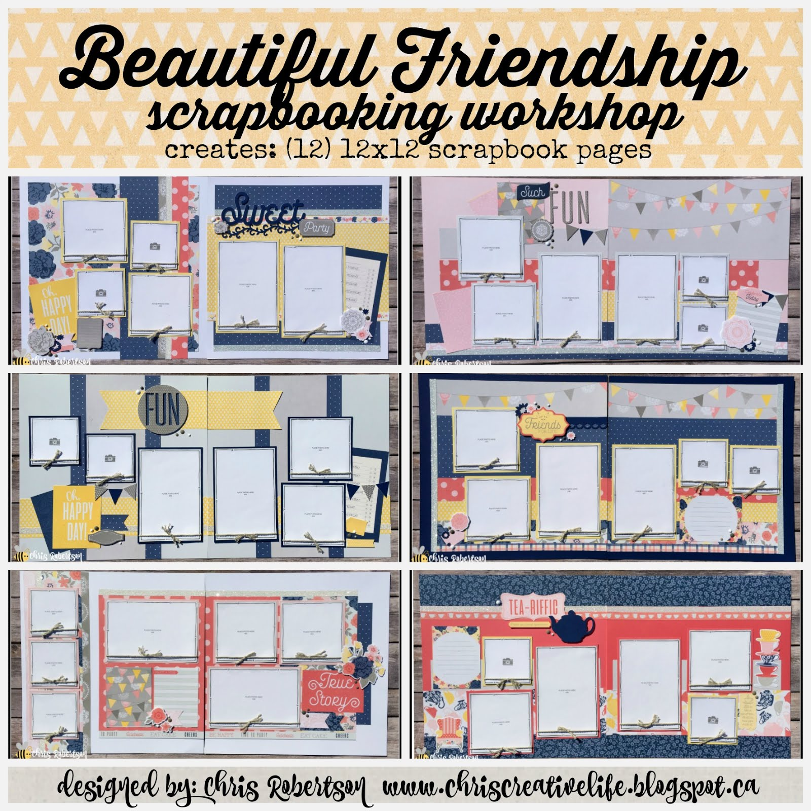 Beautiful Friendship Scrapbooking Workshop