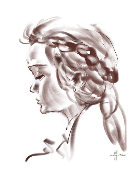 Thelma portrait by Artmagenta