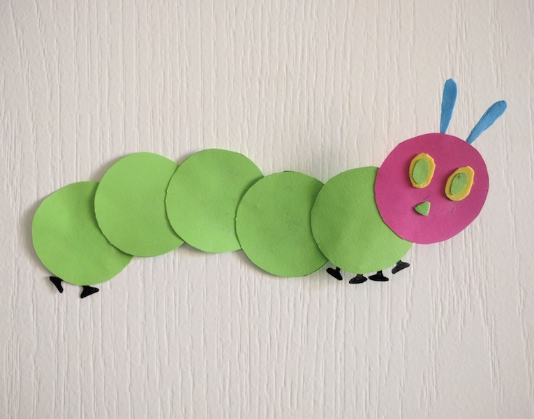 Craft for Kids, The Very Hungry Caterpillar, Puppet Craft, Toddler Craft, Paper Craft