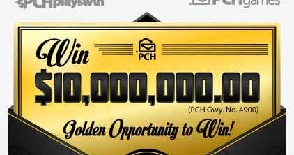 House of Sweepstakes: PCHGames $10,000,000 00 Golden Ticket Opportunity