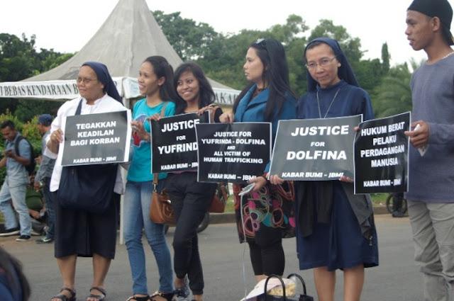 Doa Lintas Agama Untuk Dukung Korban Perdagangan Manusia