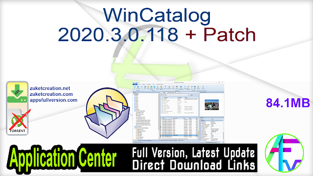 WinCatalog 2020.3.0.118 + Patch