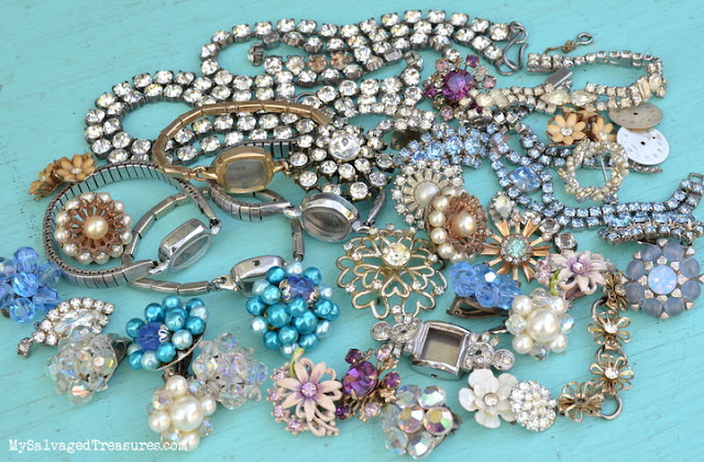 vintage jewels for repurposing
