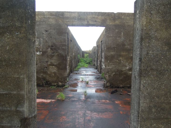 Inside the hospital ruins in Corregidor Island