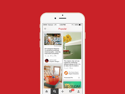 Các định dạng quảng cáo trên Pinterest