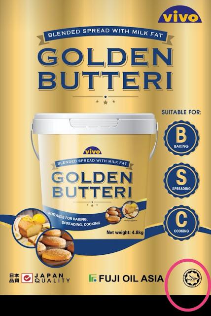vivo golden butteri, butter murah dan sedap,