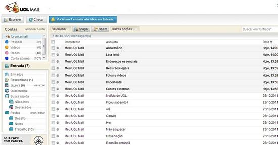 Entrar e fazer login no e-mail da UOL