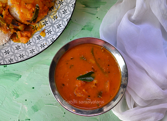 Toamot gothsu recipe for idly, Spicy and tangy tamaot gothsu, Tomato kadaisal recipe, Tomato kichdi/gotsu