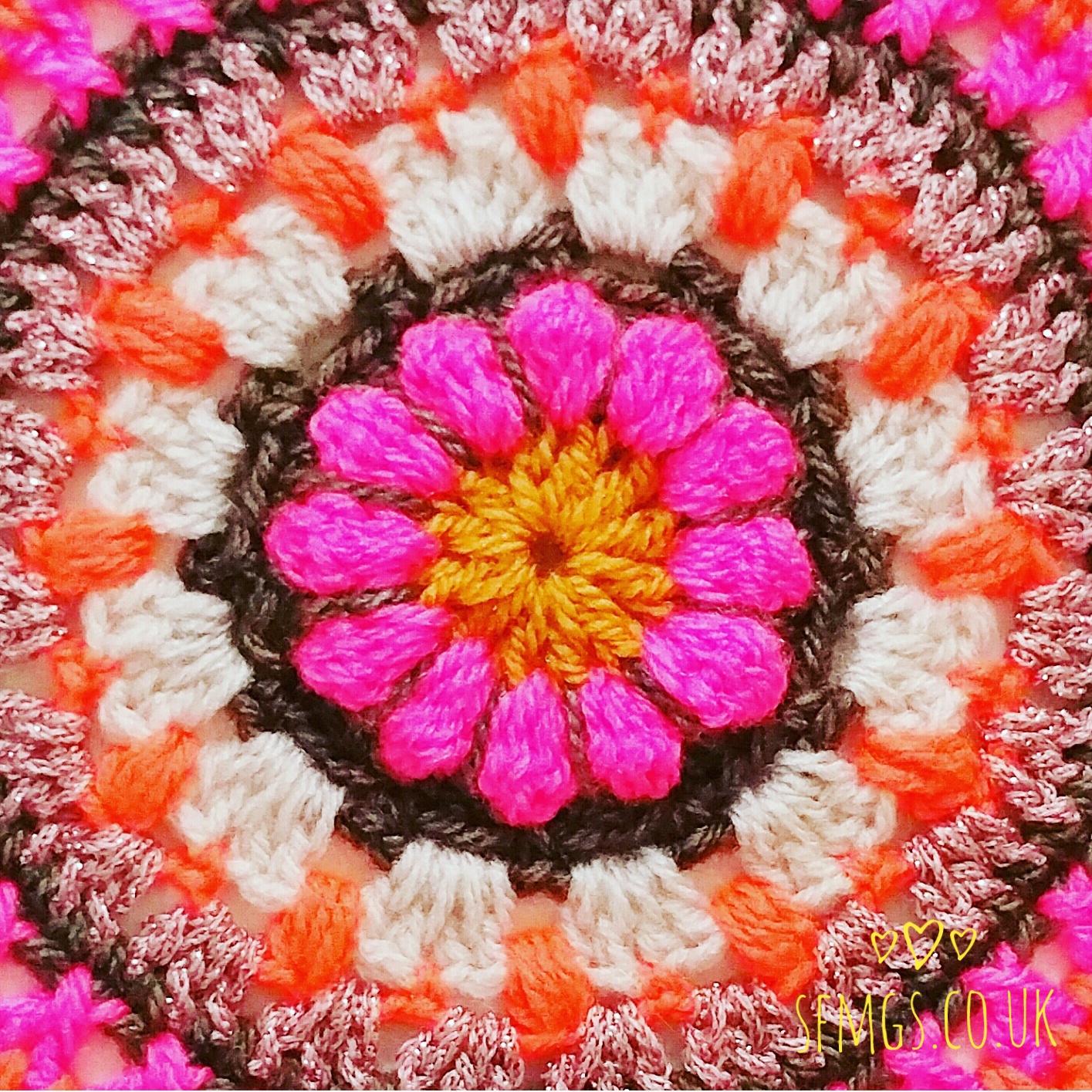 free crochet mandala pattern flowers floral