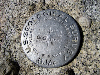 Mt. Langley summit marker.