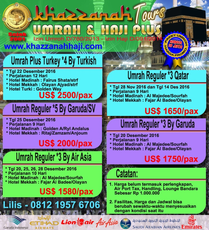 Paket Umroh Khazzanah Tour