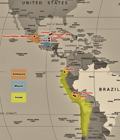 Quelle est la difference entre les Incas, les Mayas et les ...