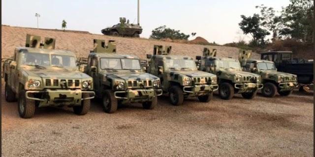 Buhari Unveils Made In Nigeria Armored Vehicles